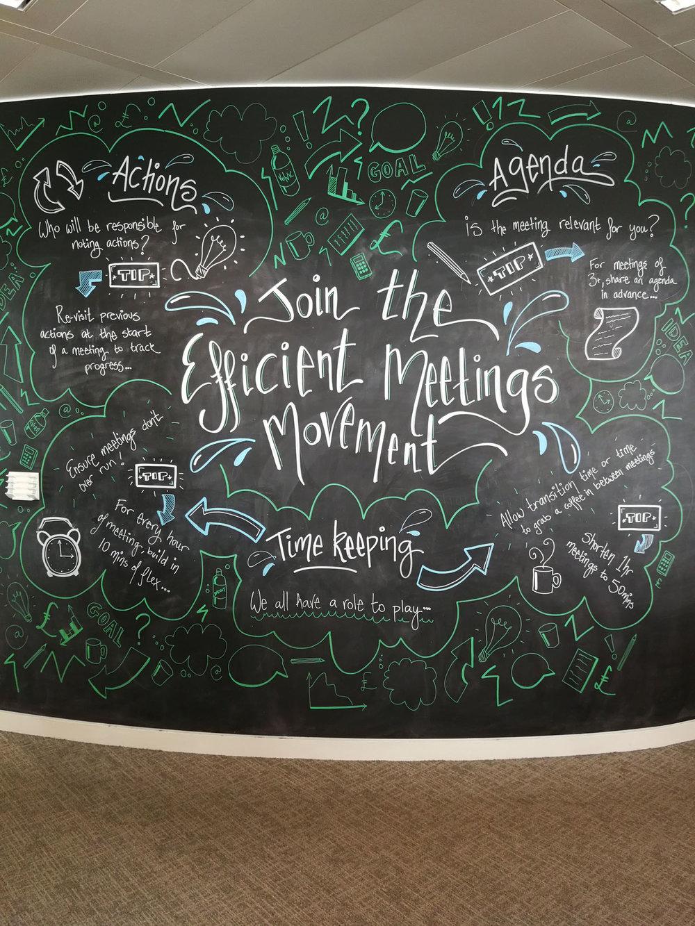 Hand lettering illustration infograhic wall art