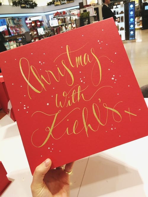 Christmas events with Kiehl's - December 2018
