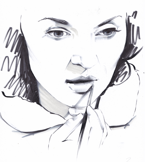 Makeup Illustration GIF Sketch