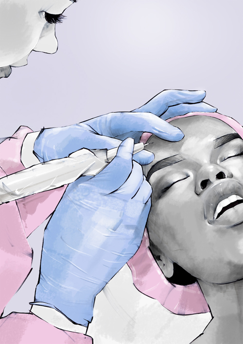 Semi-Permanent Eyebrows Illustration