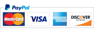 We accept MasterCard, Visa, AMEX and Discover
