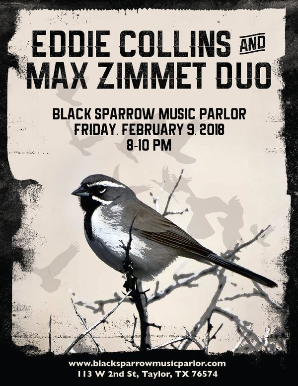 Eddie Collins & Max Zimmet Duo play Black Sparrow Music Parlor