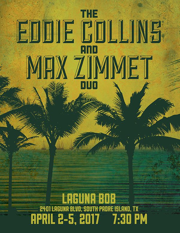 Eddie Collins & Max Zimmet Duo play Laguna Bob, South Padre Island