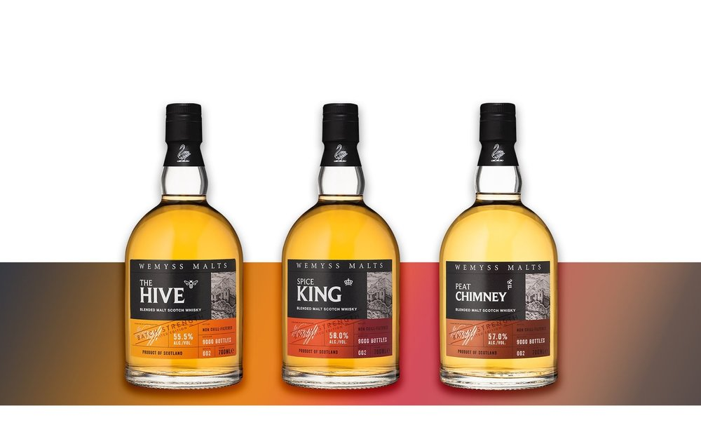 The Hive, Spice King and Peat Chimney Batch No.002 of our Batch Strength Scotch malt whisky range.
