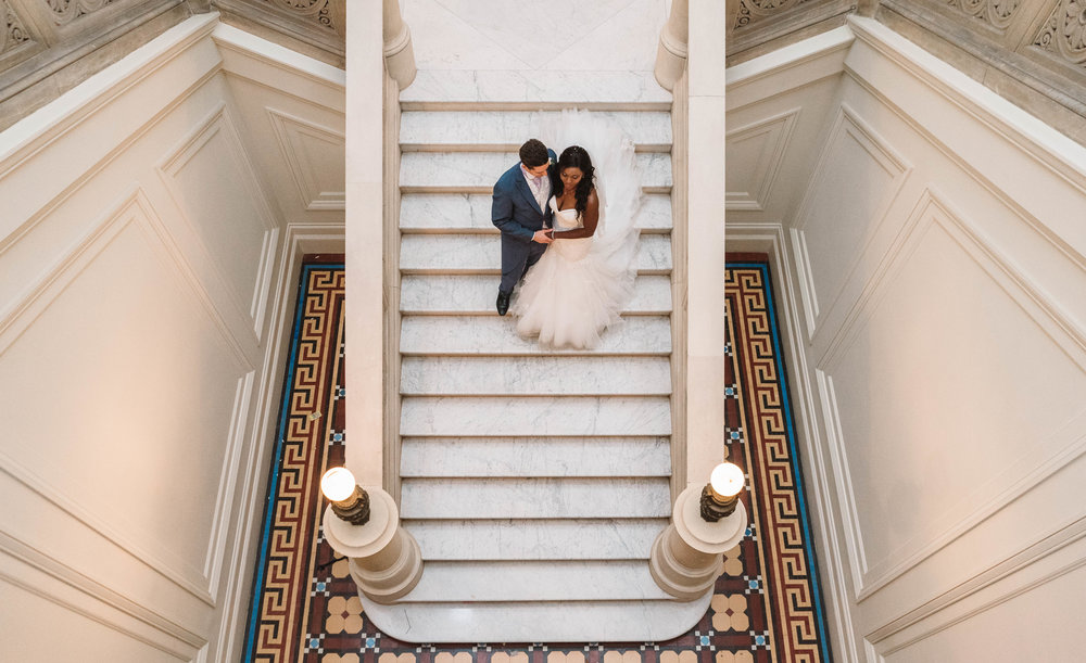 A Beautiful Couple on the Carrera Staircase