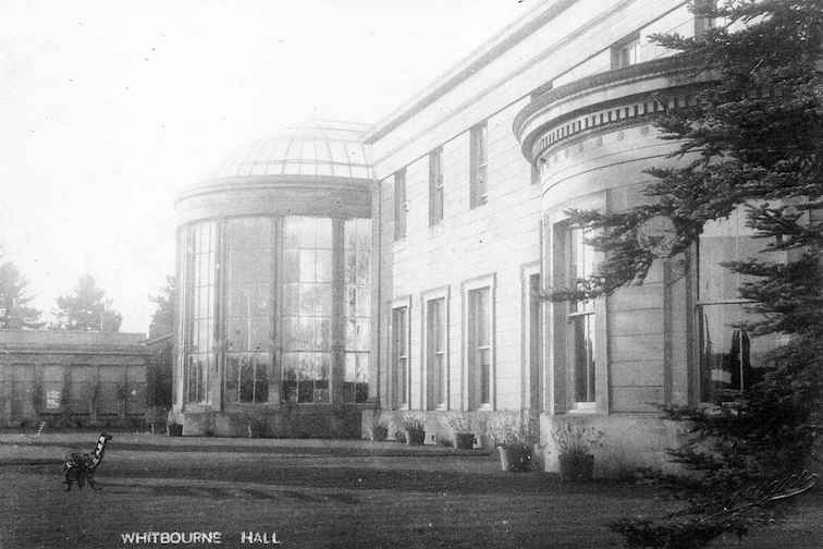 Palm House, terrace and Gardener's cottage circa 1910 provided by Heather Colley .jpg