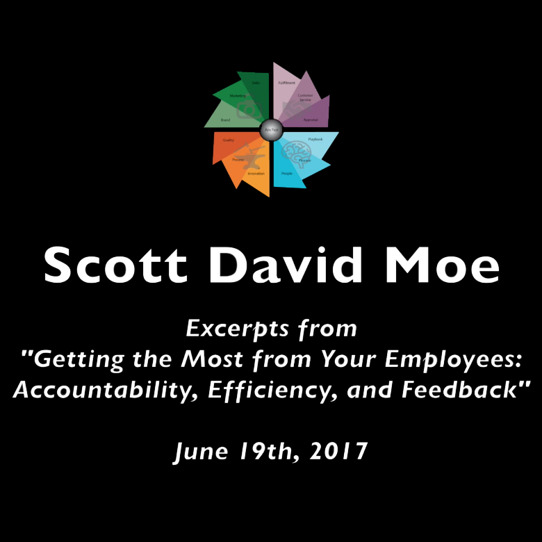 "Title:   ""Getting the Most from Your Employees: Accountability, Efficiency, and Feedback""    Presentation:  All Cities Network  - Long Beach meeting, June 19th, 2017  This presentation gave a quick introduction to the Four Corners Framework, an organizational tool used to bring various portions of an organization into alignment."