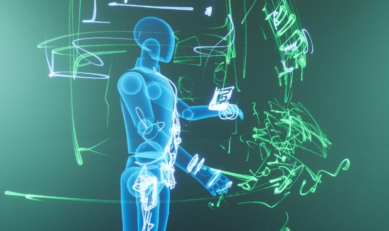Проектируем сразу в виртуальной реальности в размере игрока -
