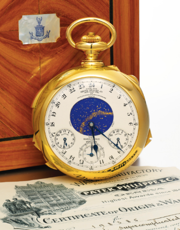 The Henry Graves Jr. Supercomplication, a pocketwatch with 24 complications.