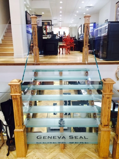 A peak inside Geneva Seal's showroom.