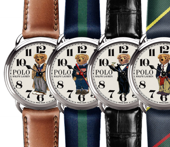 The new Polo Bear Collection of mechanical watches from Ralph Lauren