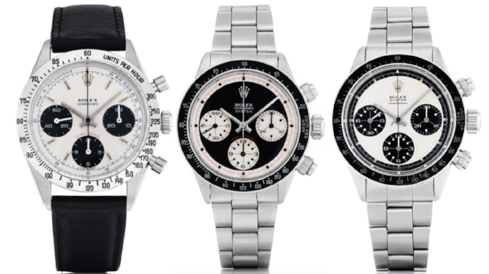 Three Rolex Daytonas up for auction at Sotheby's on Nov. 13: 1) a Ref. 2) Ref. 6263 3) Ref. 6263