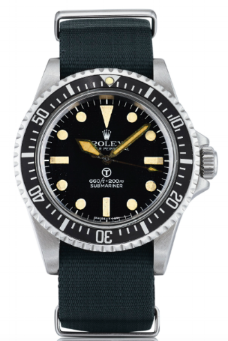 A Rolex Ref. 5517 Submariner, made for the British Armed Forces