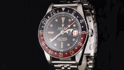 A Rolex GMT-Master 6542, the original GMT Reference.