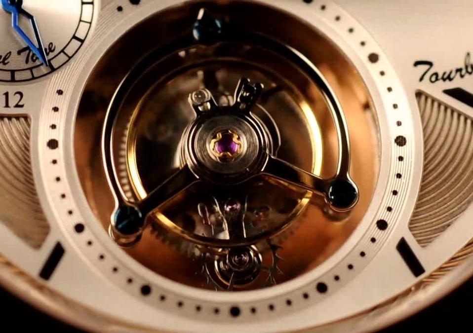 A tourbillon close up