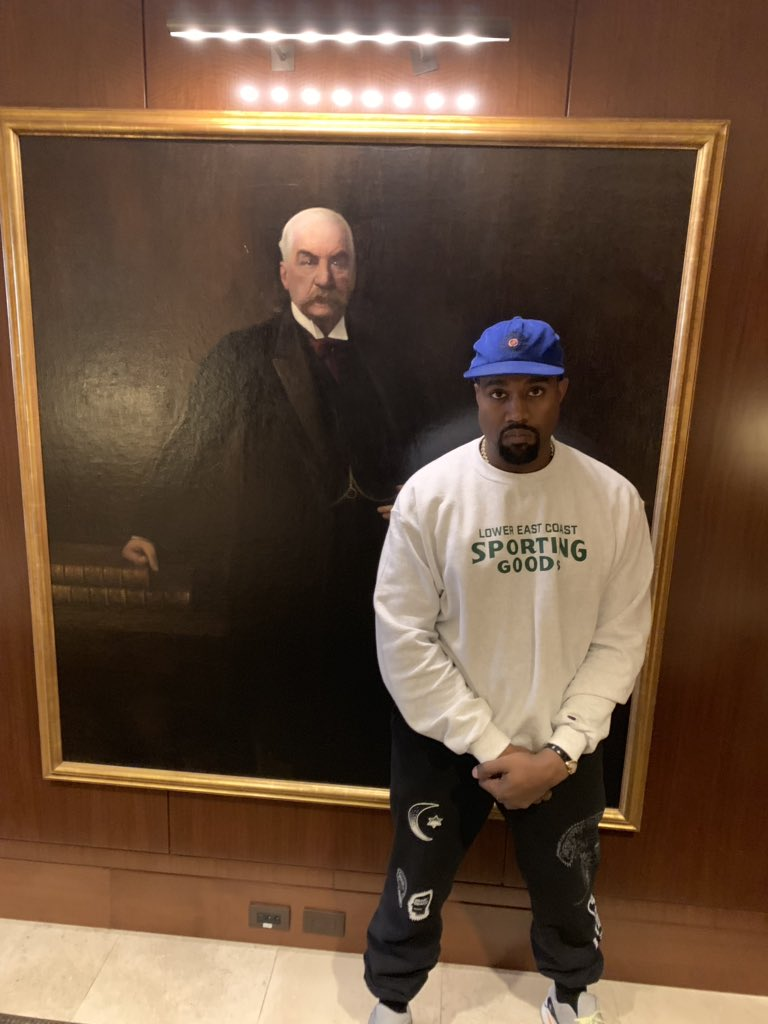 Kanye West wearing a Cartier Crash.