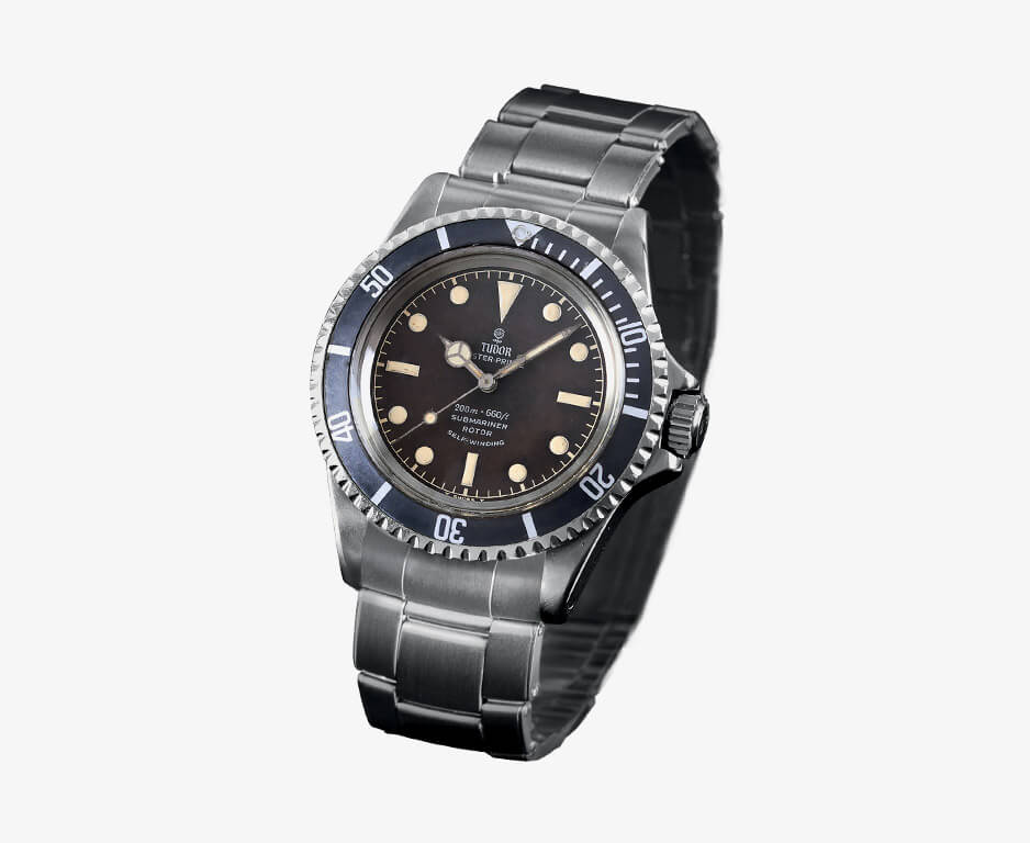 "Tudor Submariner Ref. 7928 with ""tropical"" bezel 