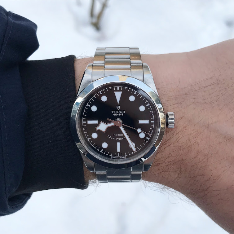 A Black Bay 36 on steel bracelet