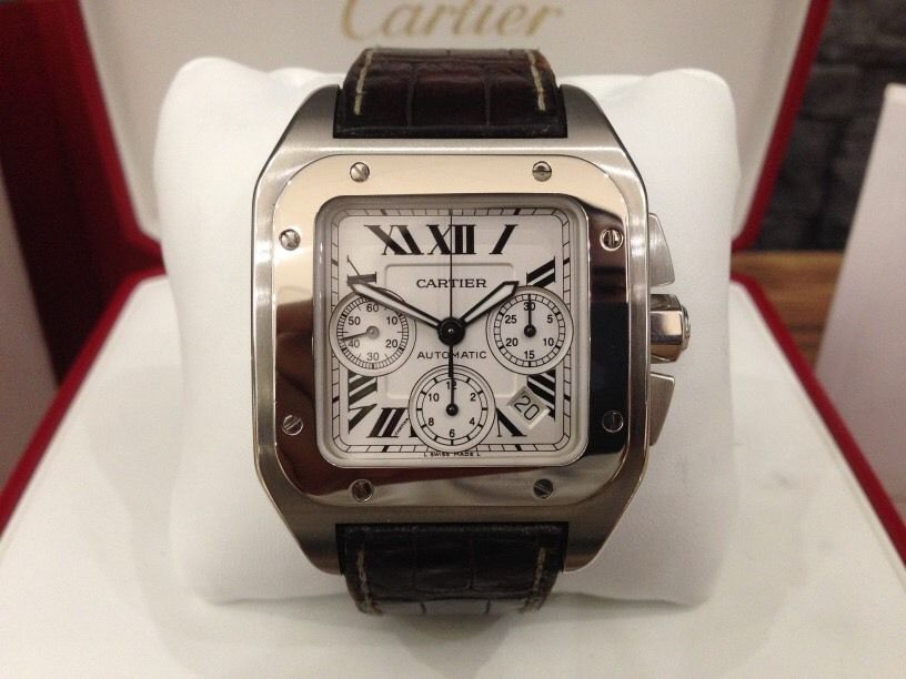 Cartier Santos 100 Chronograph in steel