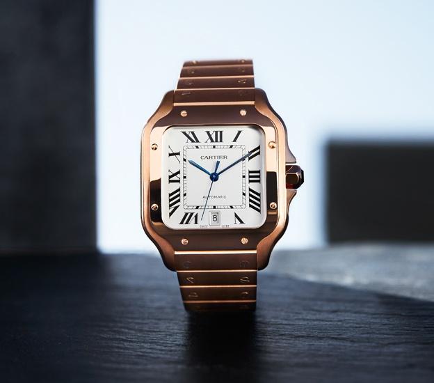 2018 Cartier Santos in pink gold