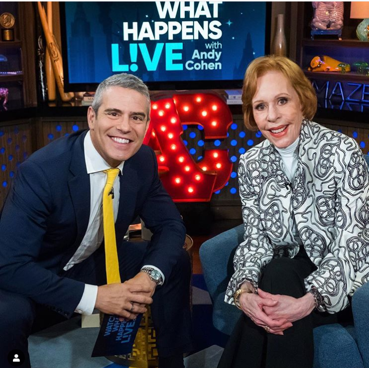 Andy Cohen with Carol Burnett, and his platinum rolex | @bravoandy