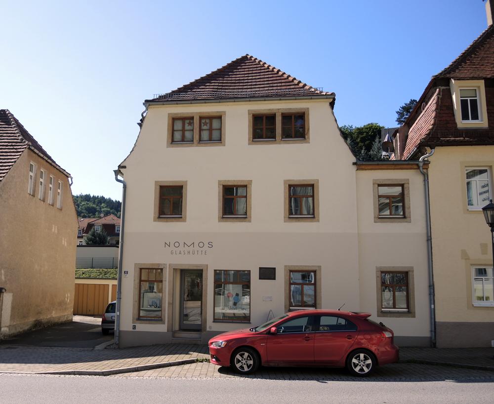 The Nomos boutique in Glashütte