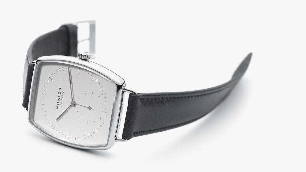 The Nomos luxury collection. Left: the Lambda   Right: the Lux.