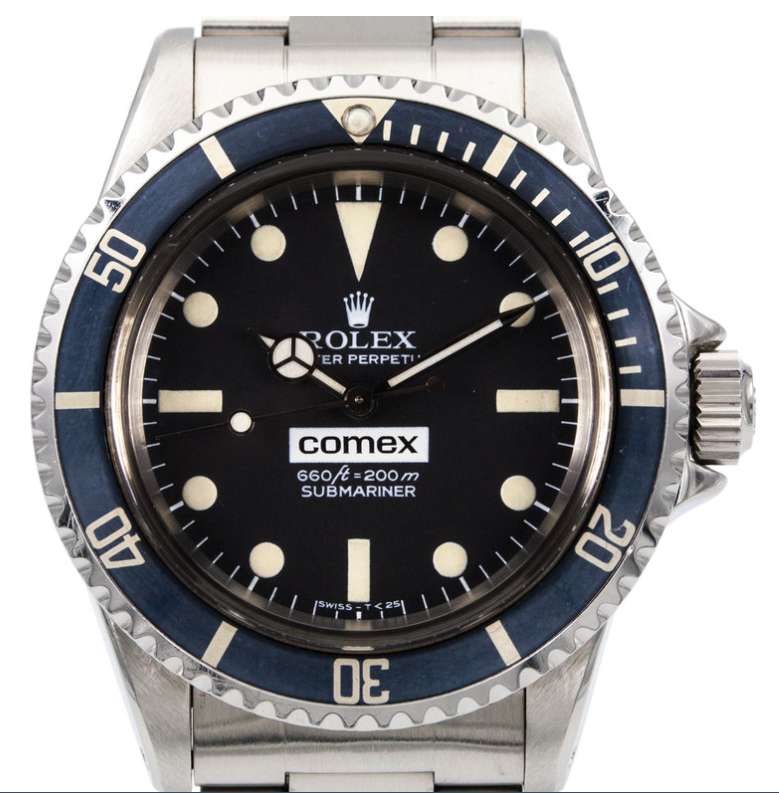 A recently sold Rolex Ref. 5514 Comex Submariner
