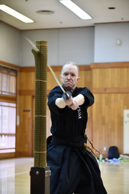 Will, the branch chief of Shishinkai, training in Japan in 2018.