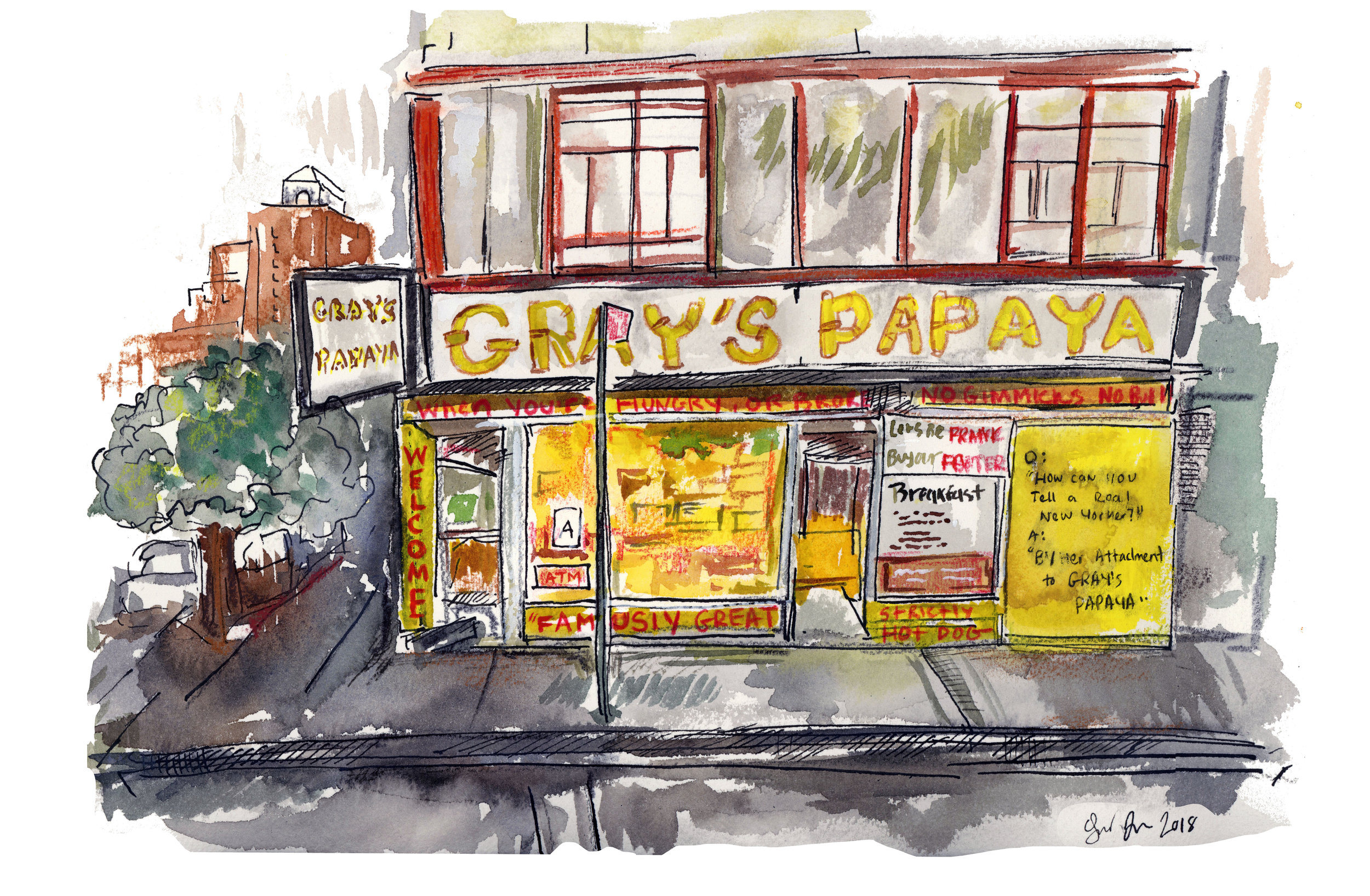 Gray's Papaya on 72nd.