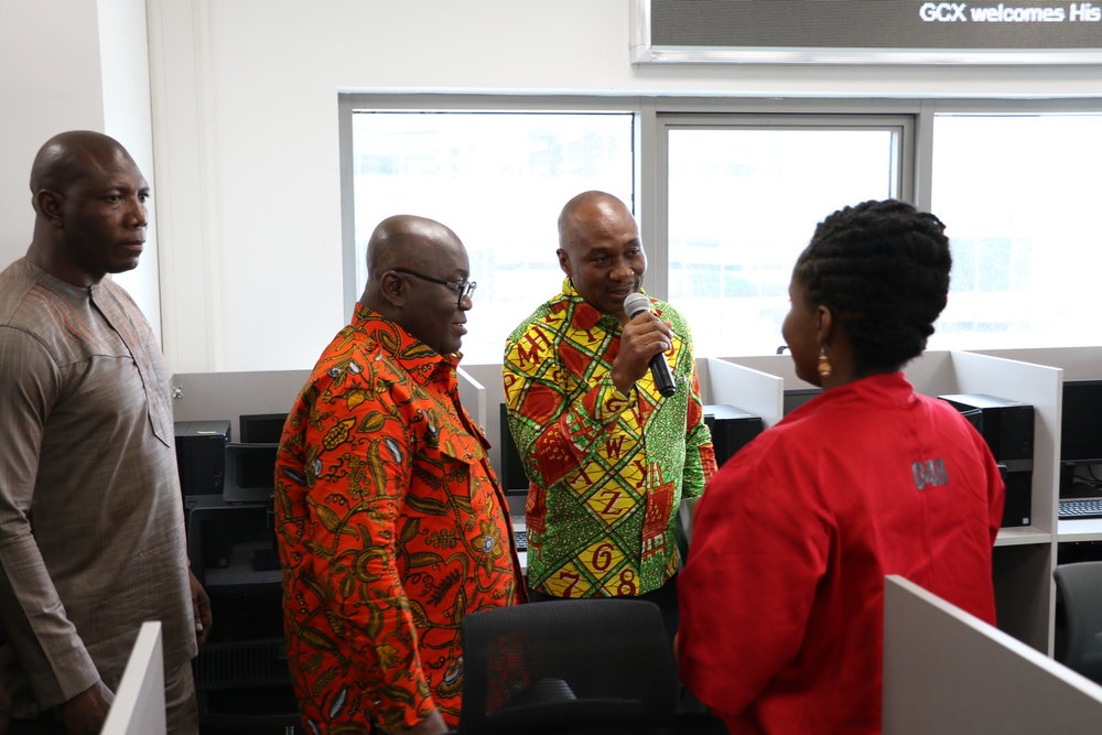 H.E Nana Akuffo Addo being introduced to trader by the Gcx CEO Alfah Khadri.JPG