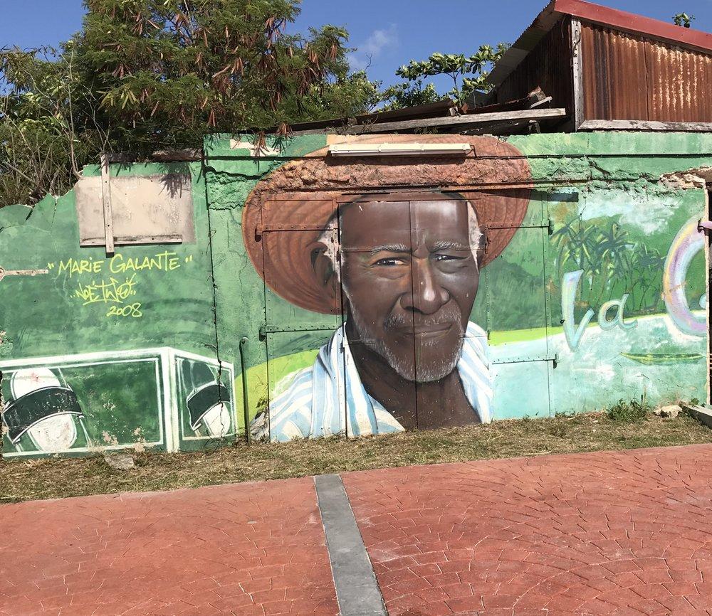 Mural in Guadeloupe - RachelTravels.com