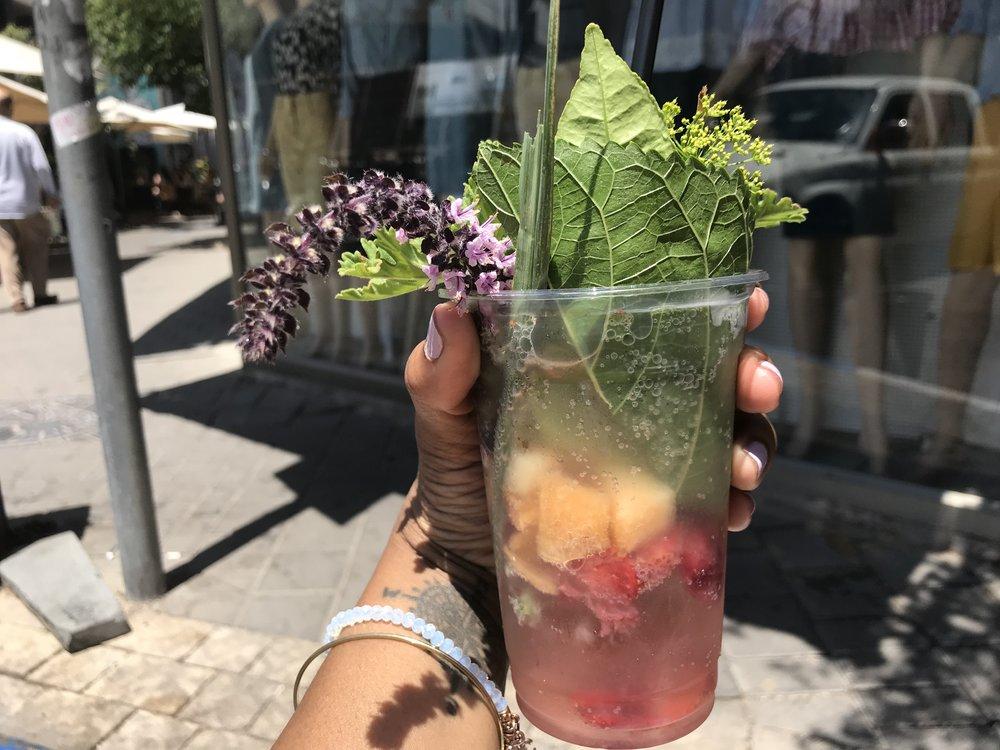 Fruit Soda - Bitemojo - RachelTravels.com - Israel