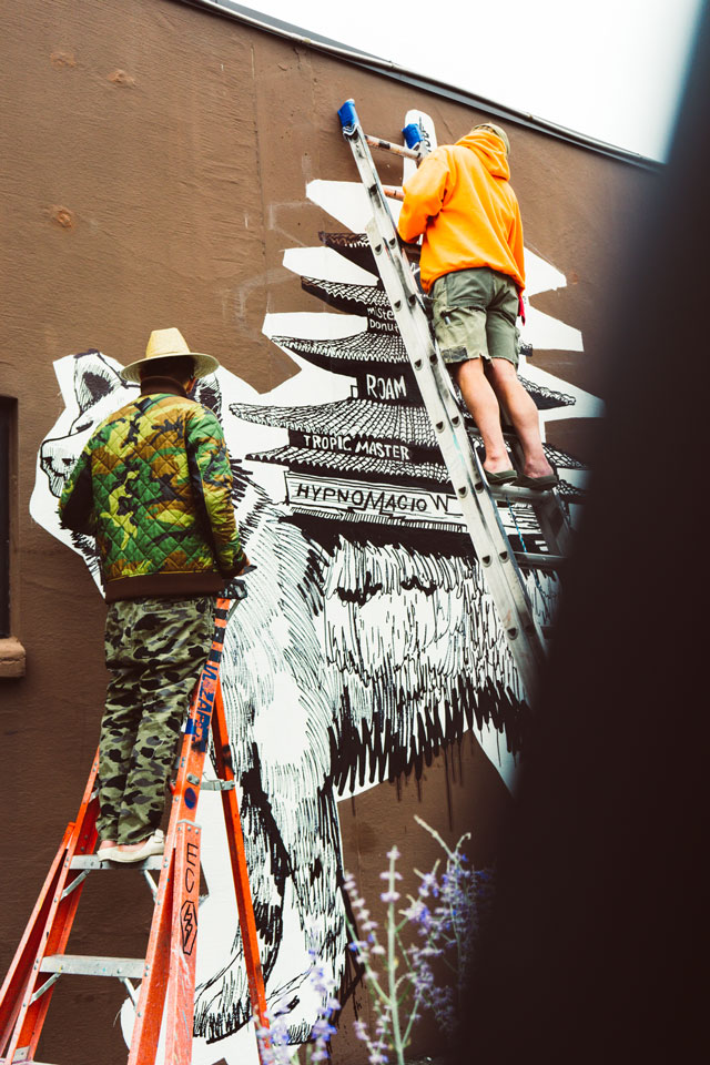 - In tandem with Winston Wächters Summer Dreams show, Electric Coffin created a 14 foot hand drawn mural.