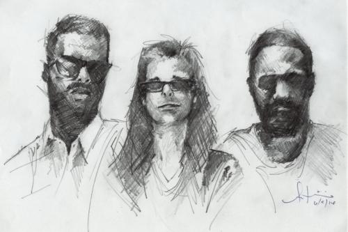 L - R: Antwan, Nigel and Earlonne. Illustration by Antwan Williams.