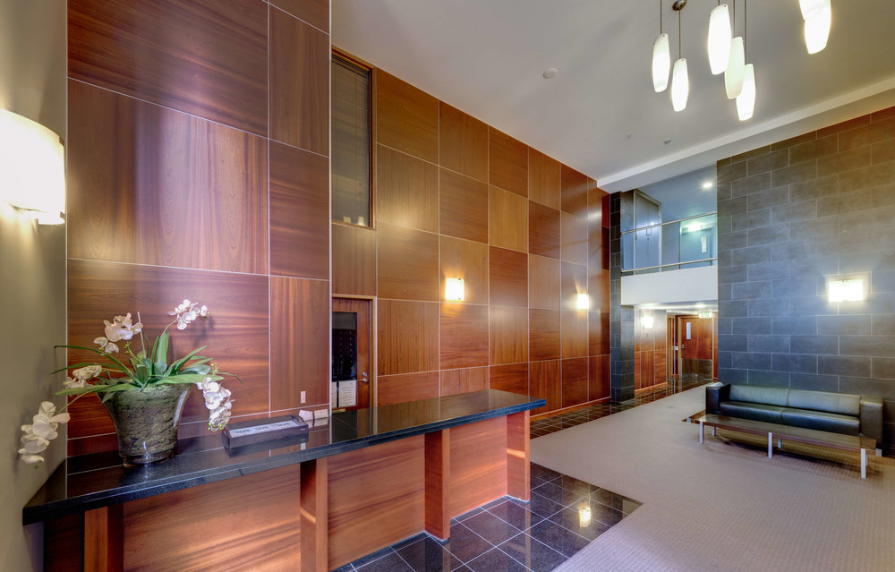 Kate Sheppard Apartments reception.