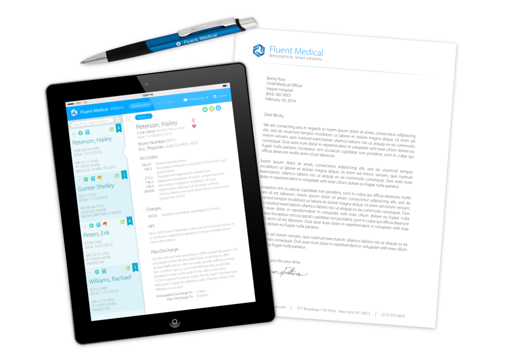 iPad App, Letterhead, and Pen