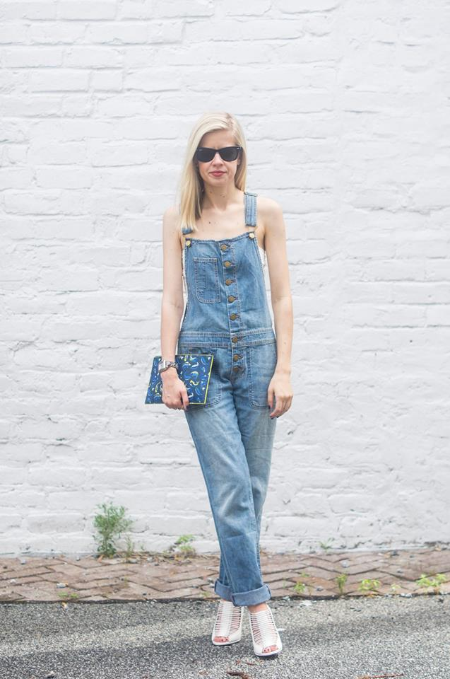 Overall Happiness, Liz Best, Liz-Best, Elizabeth and James Overalls, Givenchy Shoes, Kenzo Clutch, Free People Bandeau top