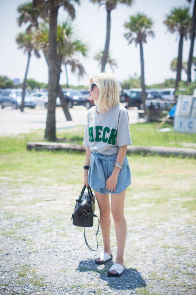 Check Out, Delaney O'Connor Photography, Pixie Market Top, Pixie Market Skirt, Sam Edelman Shoes, Saint Laurent Bag, Prada Sunglasses