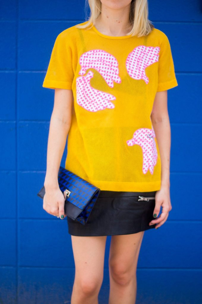 It's Bananas, Liz Best, Liz-Best, Carven Top, Nasty Gal Skirt, Proenza Schouler Clutch, Miu Miu Shoes