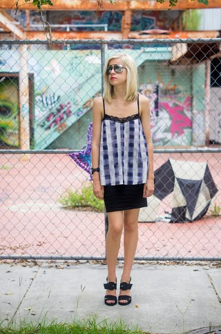 Plaid Perfection, Liz Best, Liz-Best, Delaney O'Connor Photography, MinkPink Top, Urban Outfitters Skirt, Nasty Gal Shoes, Marc by Marc Sunglasses, Honeydew Intimates Bra
