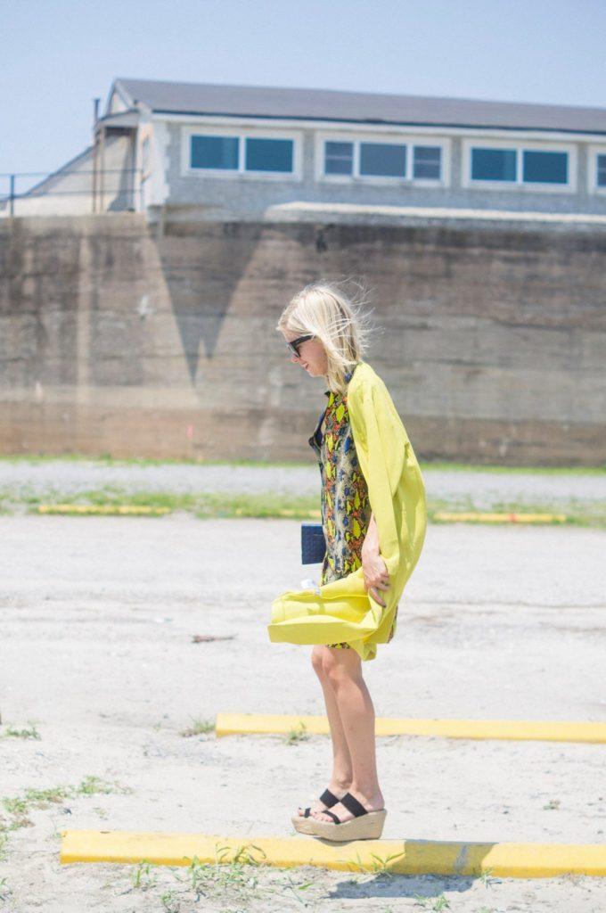 Citron Craze, Liz Best, Liz-Best, Equipment Dress, Jacket ASOS, Elizabeth and James Shoes, Nordstrom Sunglasses