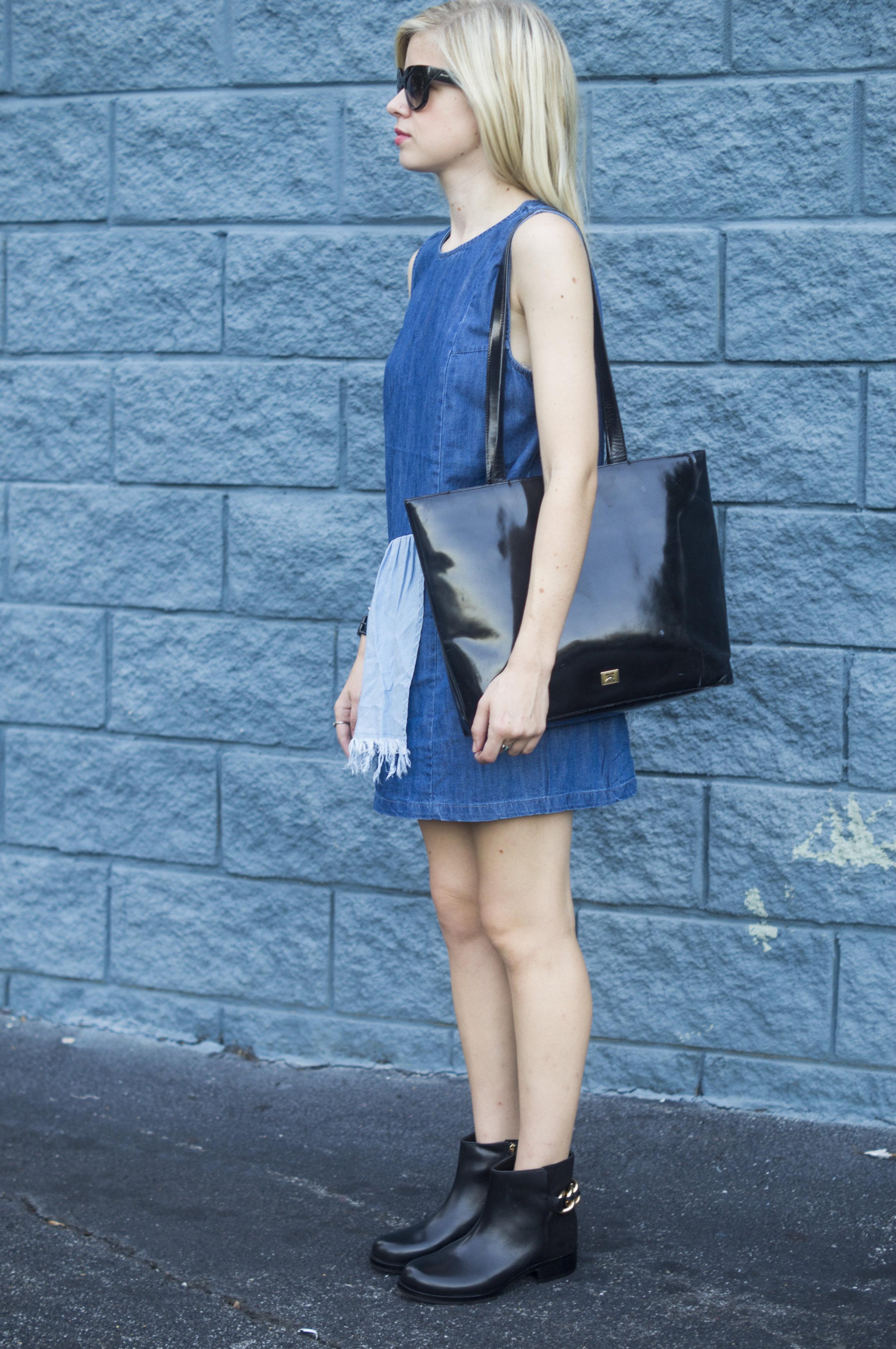 Denim Daze, Liz Best, Liz-Best, Delaney Photography, Urban Outfitters Dress, Zappos ankle boots