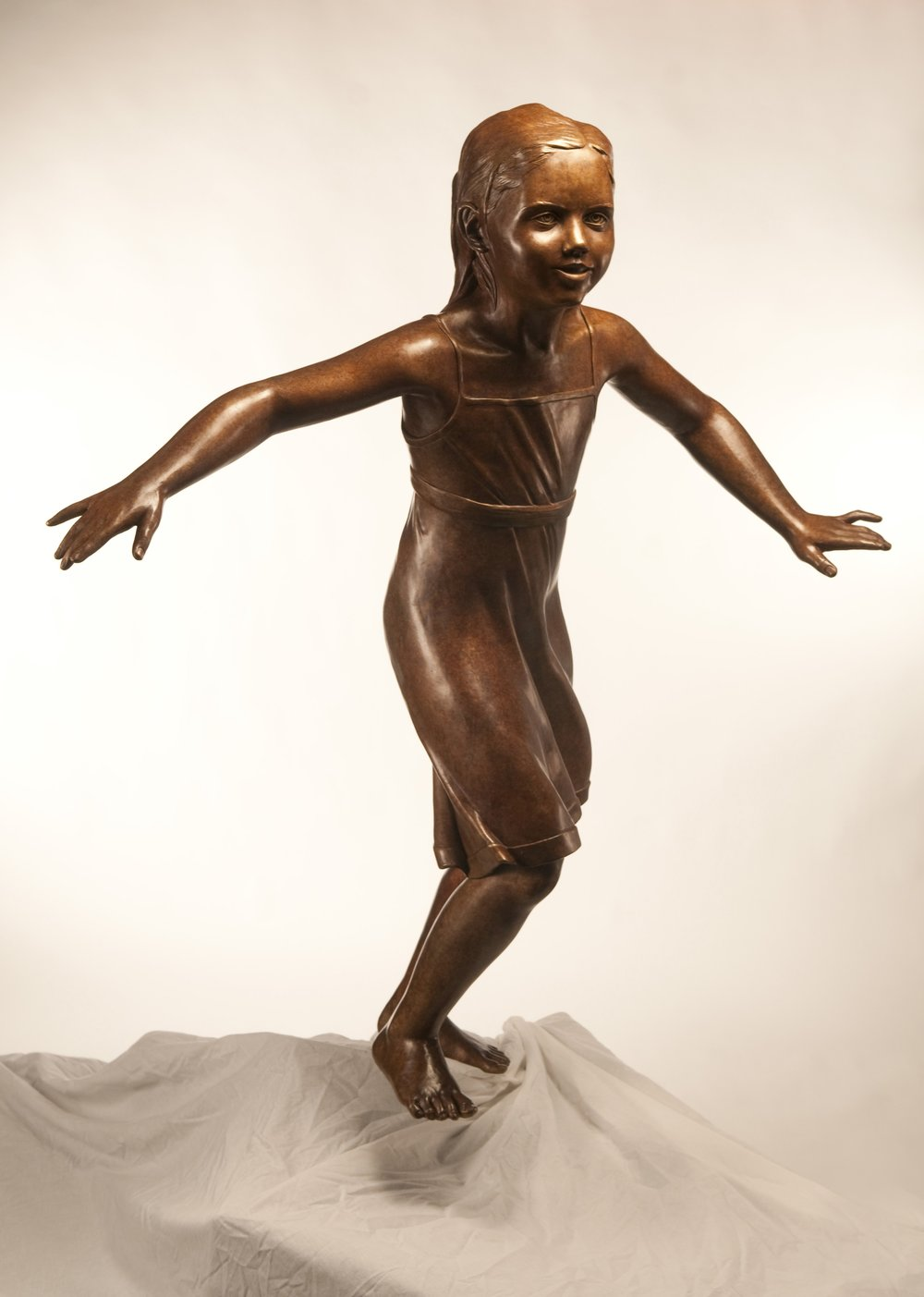 Claire Tatom Memorial   Bronze  Life Size