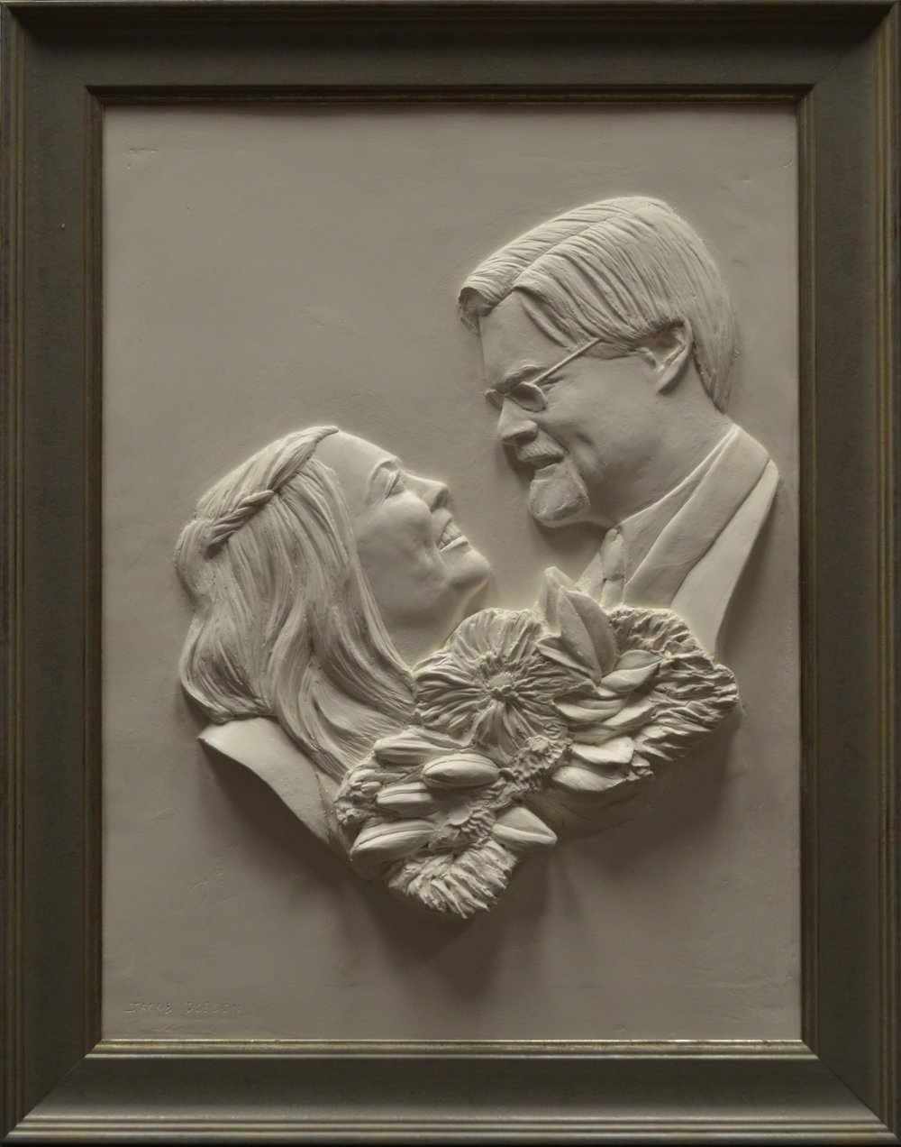"Steve and Jessica Bays     Hydrocal Plaster  18"" x 24"""