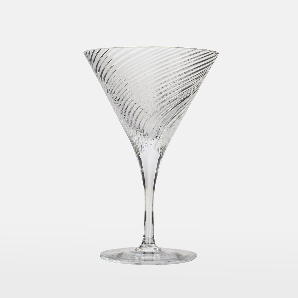 Isle of Harris Martini Glass Set - Made in collaboration with Wrześniak Glassworks, these carefully crafted Martini glasses are the perfect way to ensure a sophisticated serve.