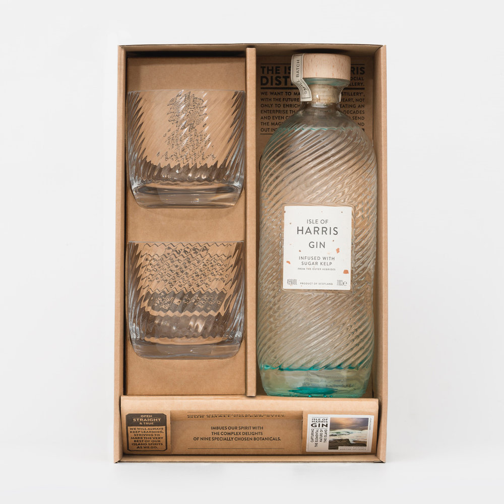 Isle of Harris Gift Box - A curated gift set to provide the basic elements for savouring the smooth taste of Harris Gin with a favourite friend.