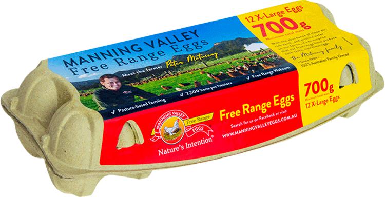 700g free range egg carton