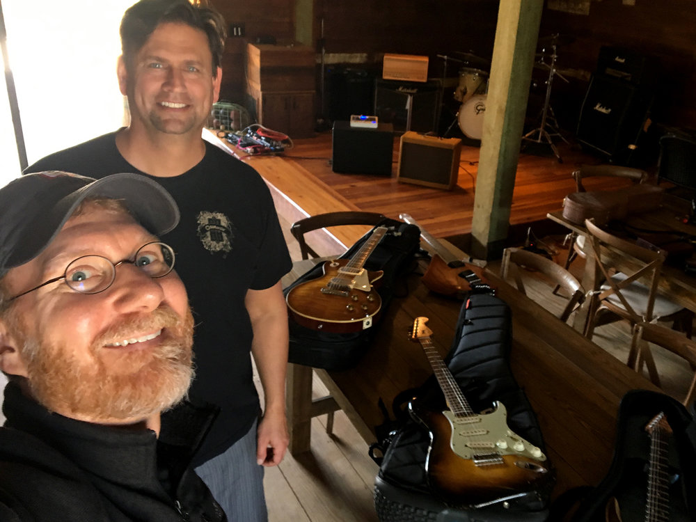 PHOTO: Rick & Steve, mid-testing.