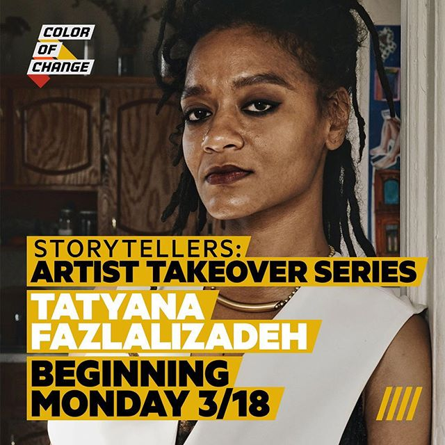 Our Storytellers: Artist Takeover Series continues this #WomensHistoryMonth with Tatyana Fazlalizadeh (@tlynnfaz), who will be sharing some of her work which focuses on women, Black folks, queer folks, and how we navigate multiple oppressions based on our intersecting identities. Follow along on our page all week!  #COCArtistTakeover #artivism #TatyanaFazlalizadeh #intersectionality